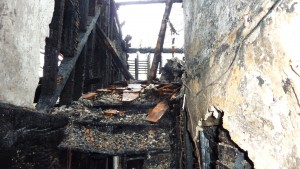 Fire damaged property