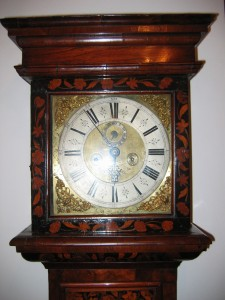 William and Mary marquetry grandfather clock