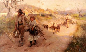 The End of The Day by frederick Hall (1860-1948