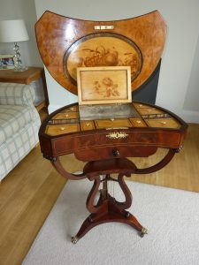 fine antique Regency table after restoration